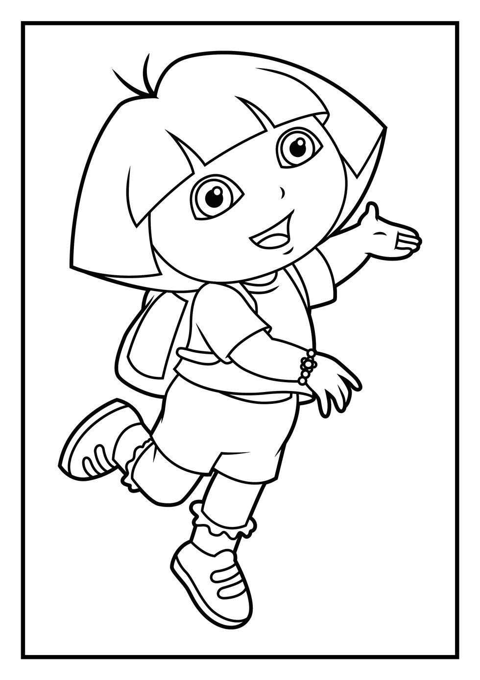 Lovely Dora Printable Coloring Pages For Kids Boys And Girls