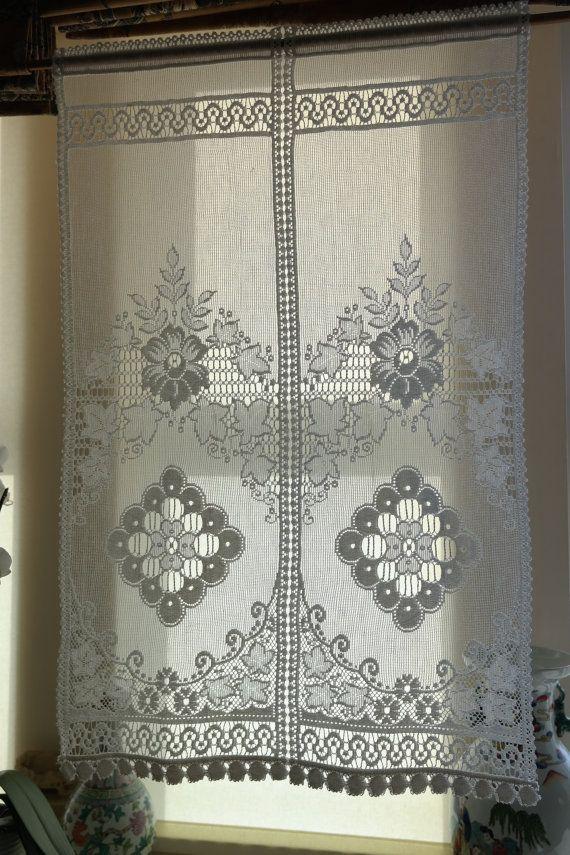 Beautiful Scottish Cotton Lace Panel 22 X 34 Drop Victoria