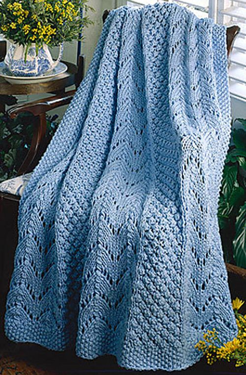 We Like Knitting: Fan Knit Afghan - Free Pattern | Knitting ...
