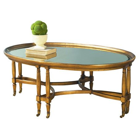 Found It At Wayfair Tuscan Overtures Oval Coffee Table Furniture - Wayfair oval coffee table