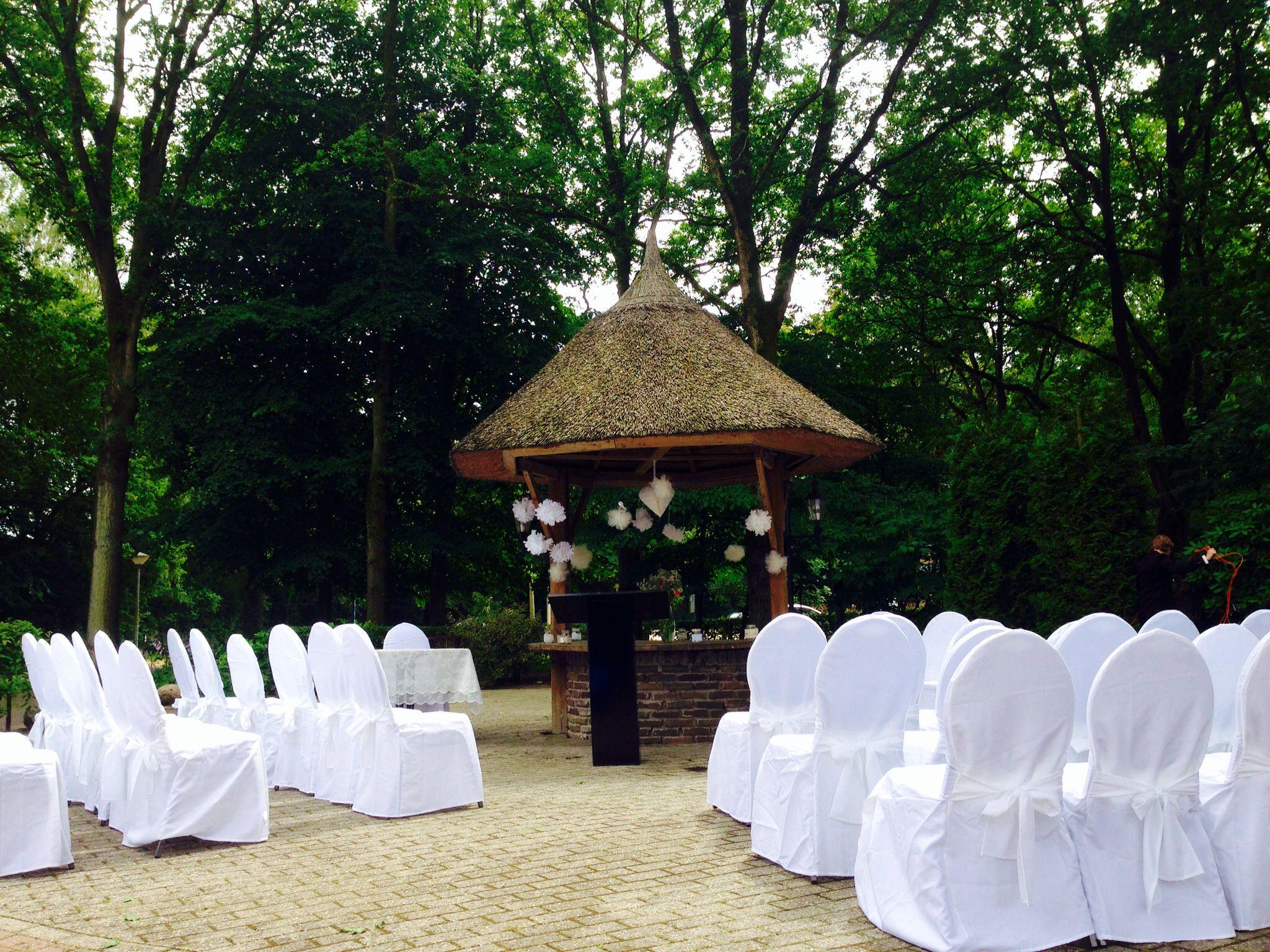 Outdoor Ceremonie Auberge T Asje Bruiloft Interieur