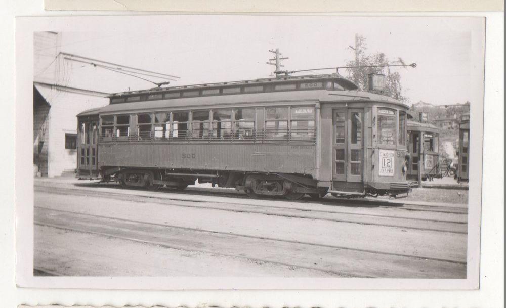 SEATTLE MUNICIPAL STREET RAILWAY Trolley WA 1940