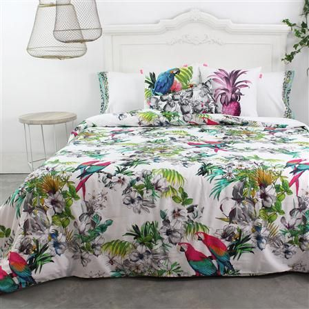 Happy Friday Macaw Super King Duvet Cover Blue Stylish Beds