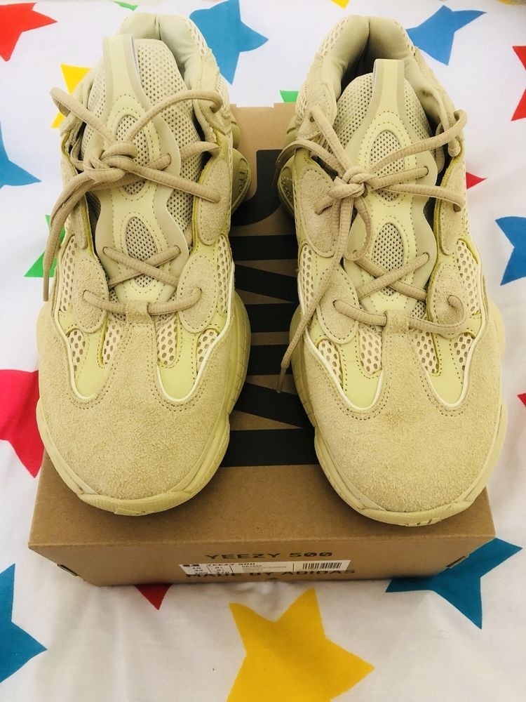 various colors 25bea 132de YEEZY 500 SUPERMOON YELLOW DESERT RAT TRAINING SHOES WITH ...