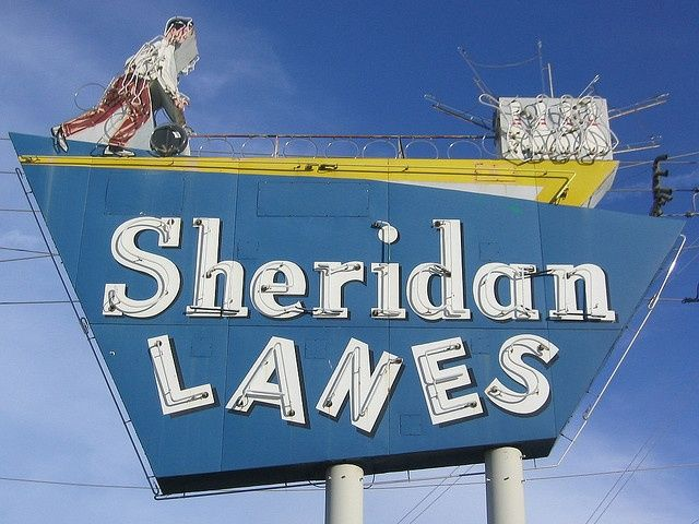 Sheridan Lanes Neon Sign Daylight Tulsa Time Neon Signs Tulsa Oklahoma
