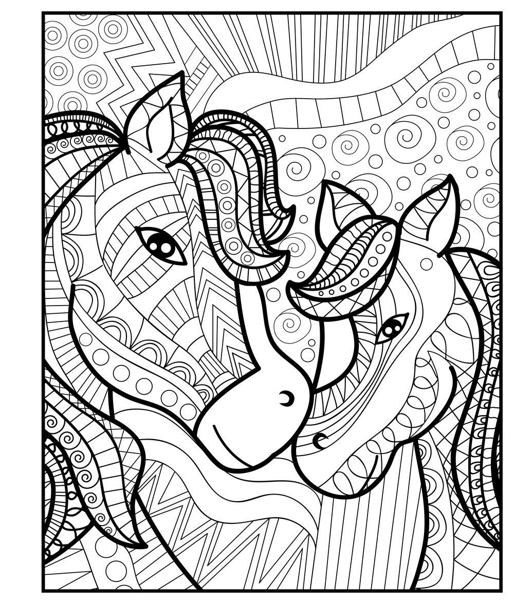 Amazon Com Zendoodle Coloring Baby Animals Adorable Critters To Color And Display 978 Animal Coloring Pages Horse Coloring Pages Mothers Day Coloring Pages
