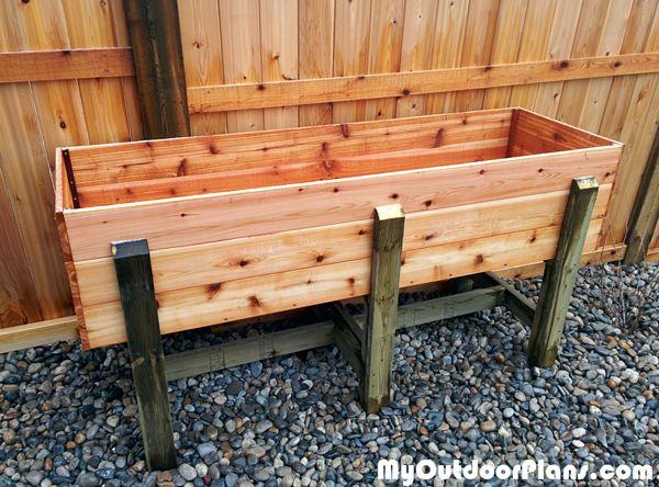 Diy Waist High Raised Garden Bed, How To Make Waist High Raised Garden Beds