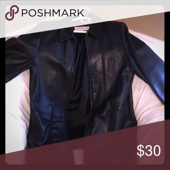 Leather Jacket Liz Claiborne Excellent Condition All Black Liz Claiborne Jackets Coats Utility Jackets Leather Jacket Jackets Clothes Design