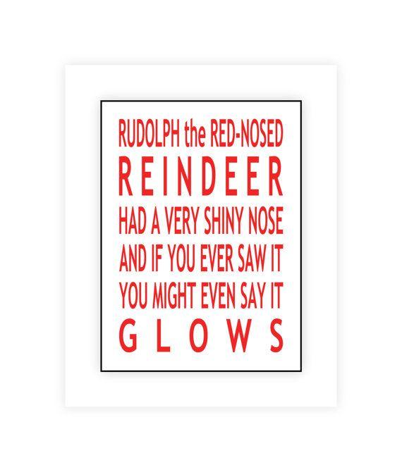 Rudolph the Red Nosed Reindeer Christmas Printable by SweetestPie, $3.50
