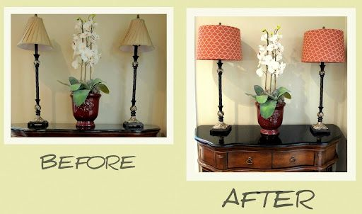 DIY lamp shade. Great and easy way to update our living room with summer colors!
