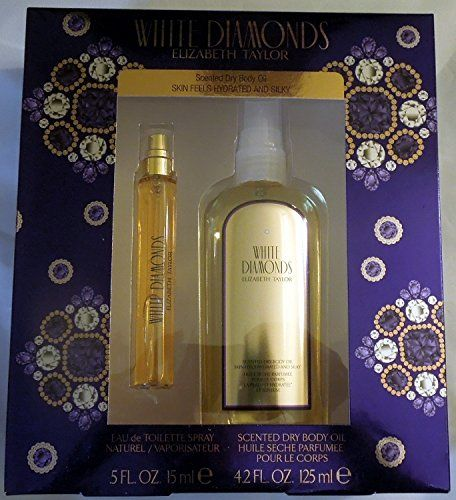 WHITE DIAMONDS BY Elizabeth Taylor Scented Dry Body Oil  1 Gift Set *** Check out the image by visiting the link.