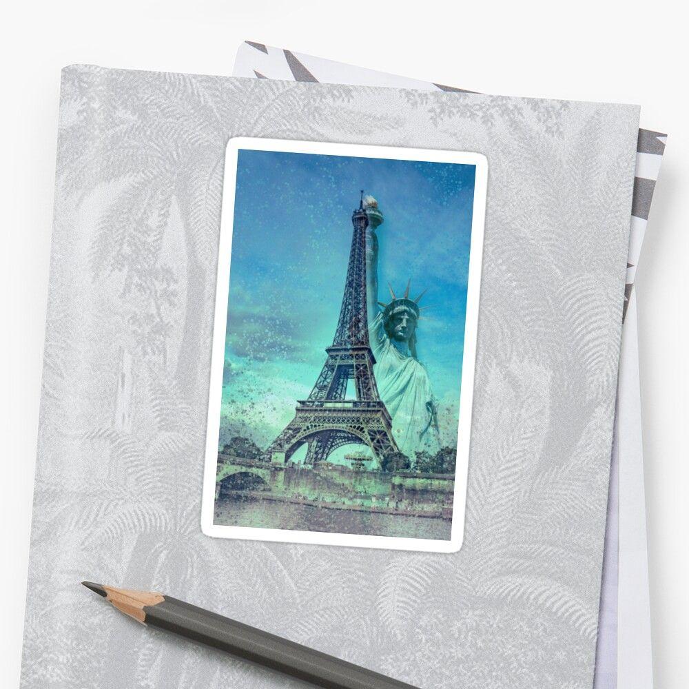 Paris New York Sticker