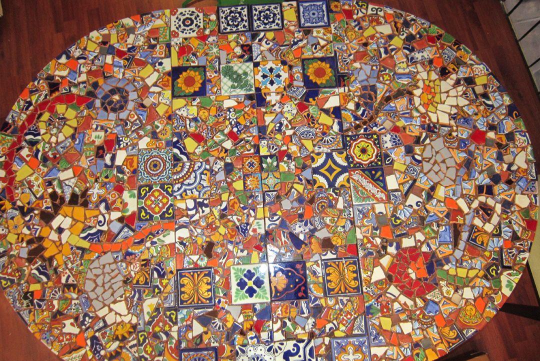 Diy mosaic table part 2 mosaic diy mosaic tile patio table