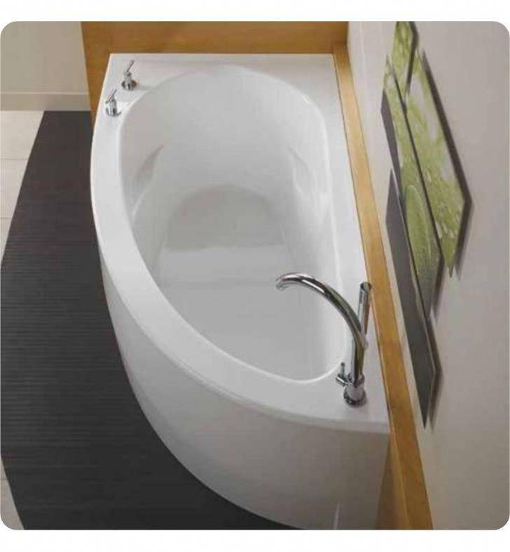 Neptune 10.15516.5000.10 WI60D 60 White Corner Bathtub with Skirt, Right Side Drain & Integrated Tiling Flange