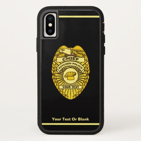 Chief Of Kitchen Police Badge CaseMate iPhone Case