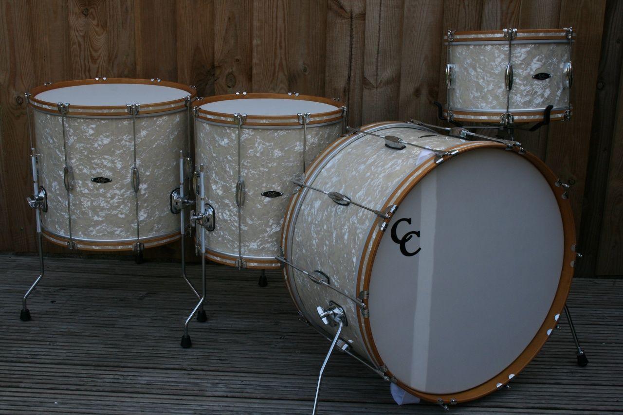 C&c  Antique White Marine Pearl · Drumsantiquebombers