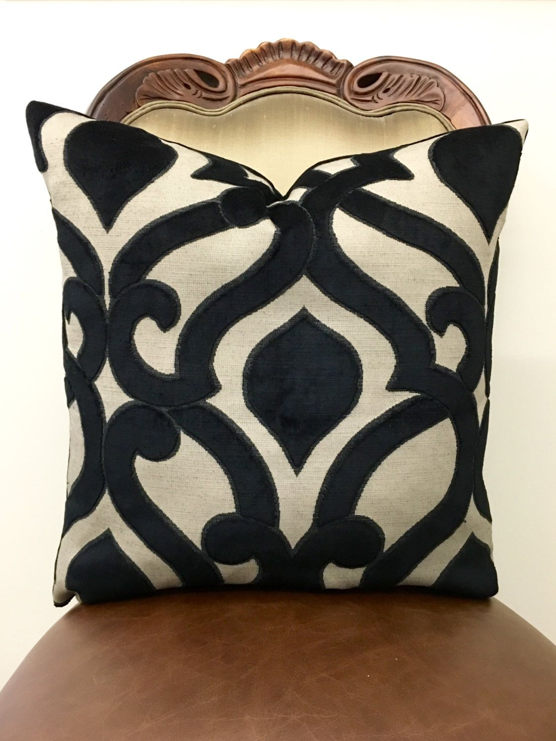 square damask pack kitchen pillow decorative perfect pillows black throw home beige dp toss com amazon