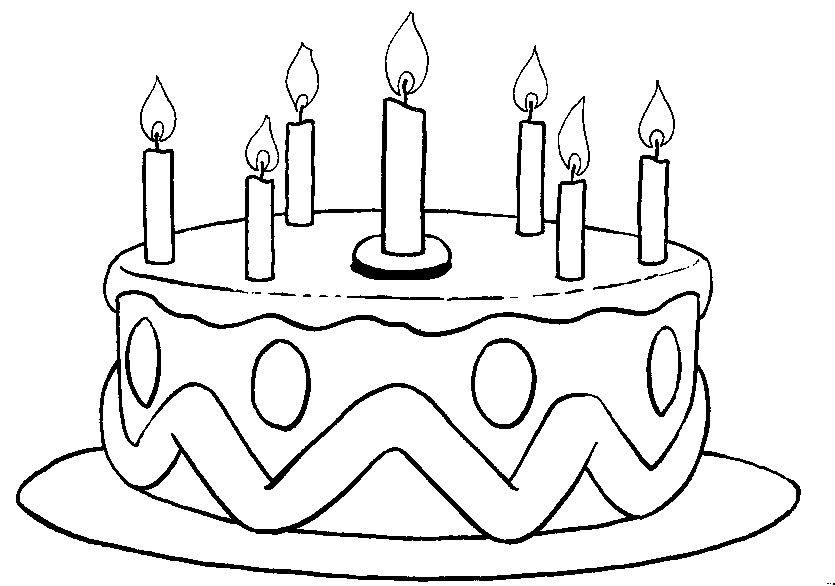 Dibujos de cumpleaños para colorear y pintar. Imprimir dibujos de