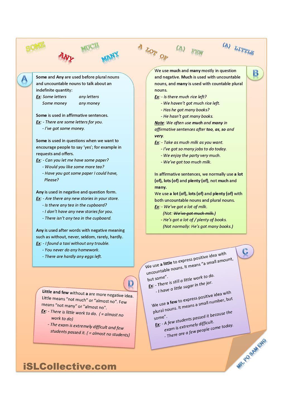Quantifiers Worksheets Writing Skills Teaching Jobs