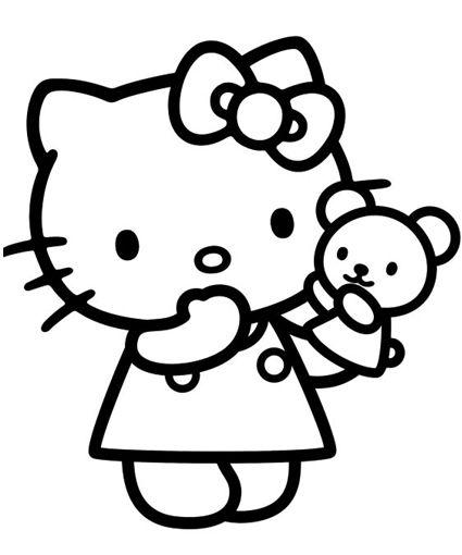 Hello Kitty Coloring Pages Kolorowanki Rysunki Szablony
