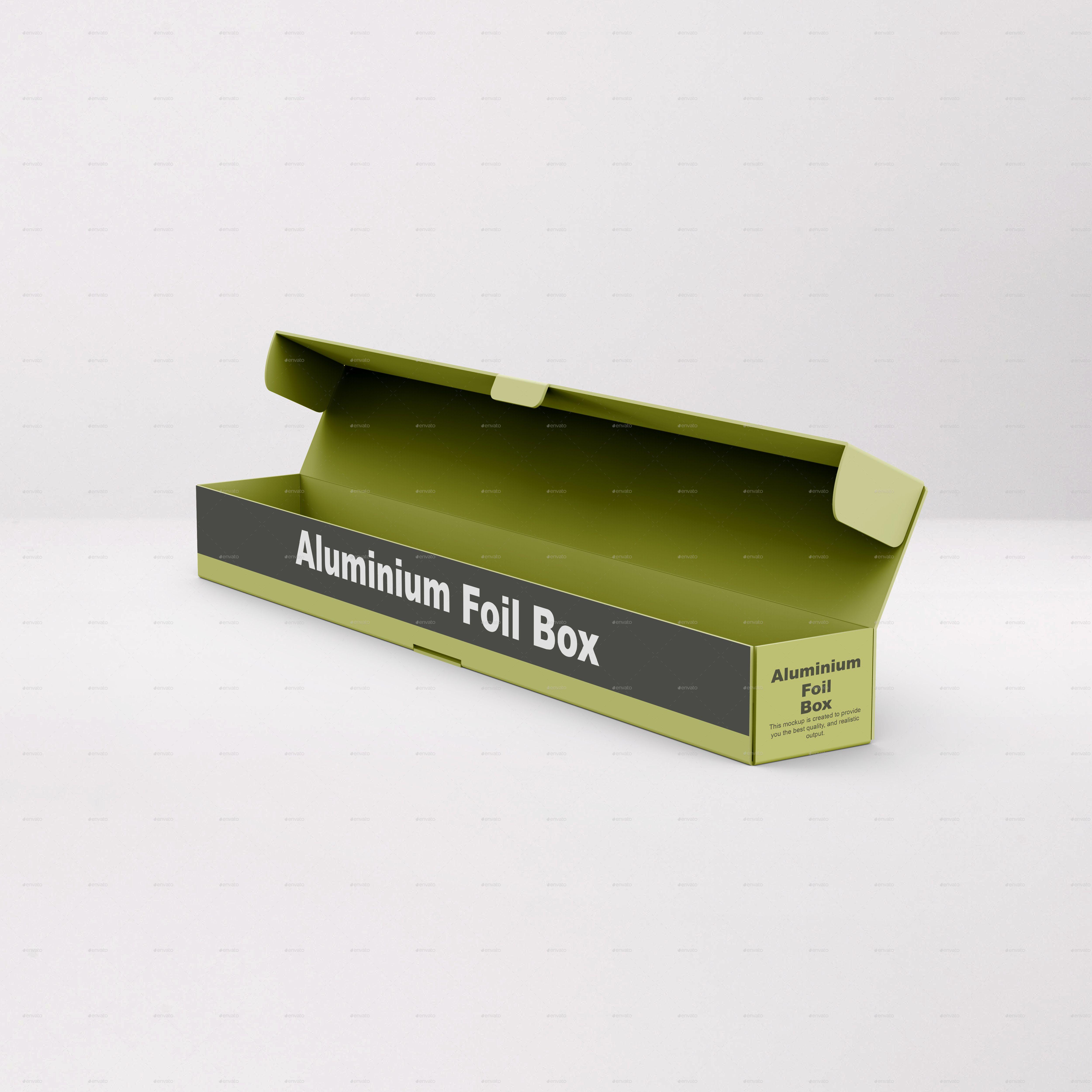 Download Aluminium Foil Box Mockup Box Mockup Aluminum Foil Foil