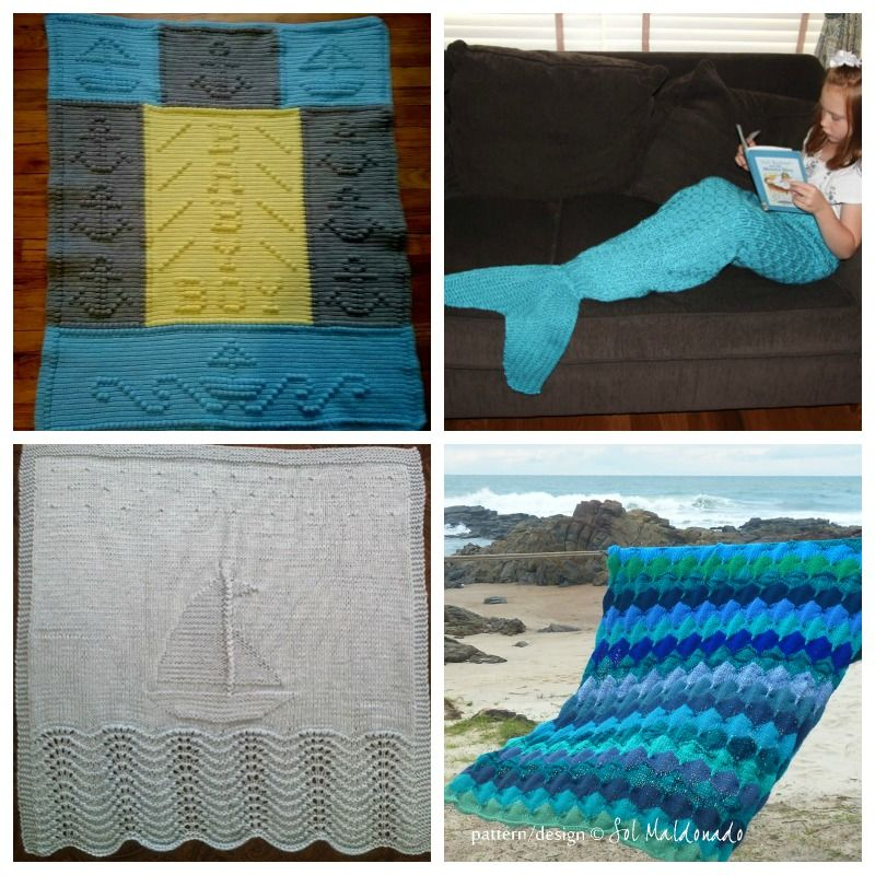 10 nautical baby blanket knitting patterns in 2020 ...