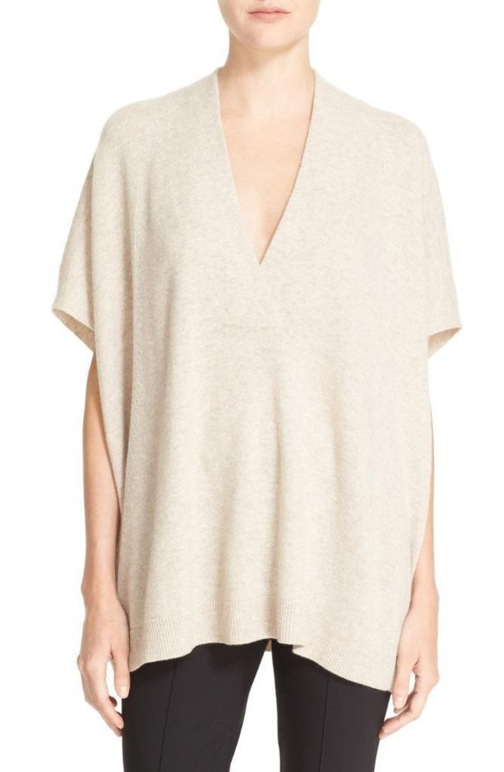 Vince Oversize V-Neck Wool & Cashmere Sweater Extra Small $379 FTC ...