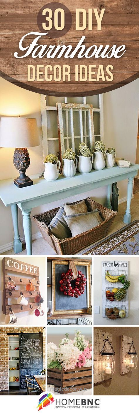 Cool 30 ways diy farmhouse decor ideas can make your home unique