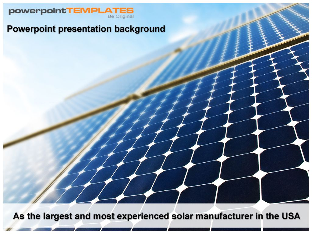 downlaod solar panel powerpoint template at www