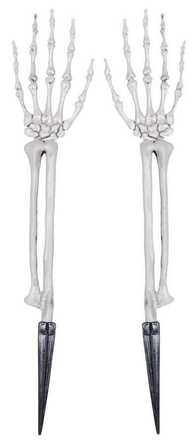 Skeleton Hands With Arms Halloween Decoration Prop Day of the Dead - halloween decorations skeletons