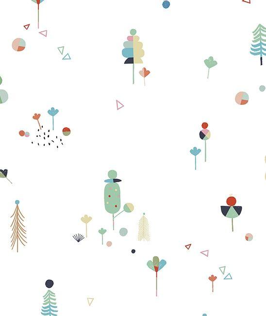 h0312 zoom papier peint deco moderne arbre chambre enfant. Black Bedroom Furniture Sets. Home Design Ideas