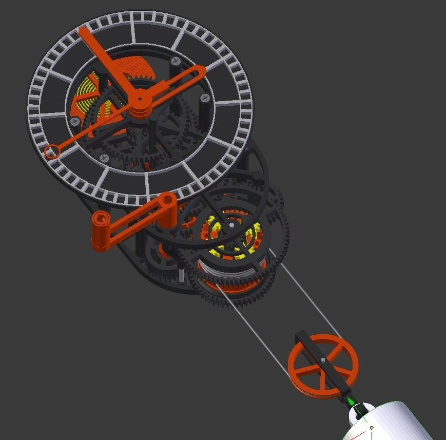 3d Printed Mechanical Clock With Anchor Escapement Stl Files By Tosch Mechanical Clock 3d Printing Diy Printed Clocks