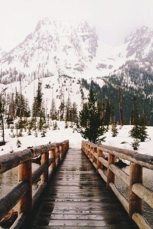 Mountain Bridge Landscape Photography Nature Landscape Photography Winter Photography