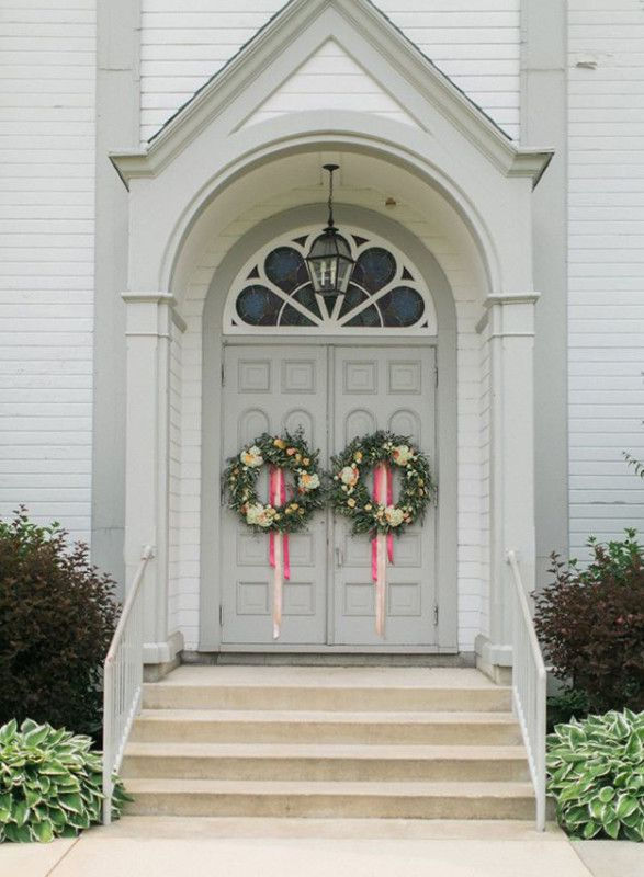 BLOOM - wreaths on the church doors for a wedding | wedding wows ...