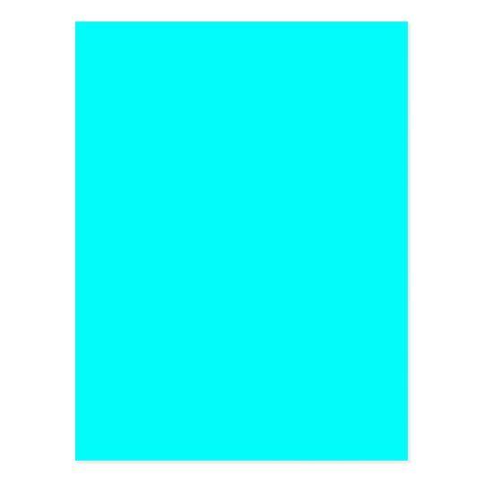 Neon Aqua Blue Bright Turquoise Color Trend Blank Postcard Zazzle Com Bright Paint Colors Turquoise Color Blue Paint Colors