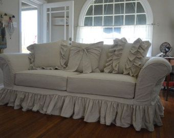 2 Piece 11 Cushion Sectional Slipcover 1 Arm By