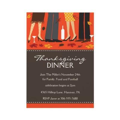 Thanksgiving Dinner Invitation  Minor Details