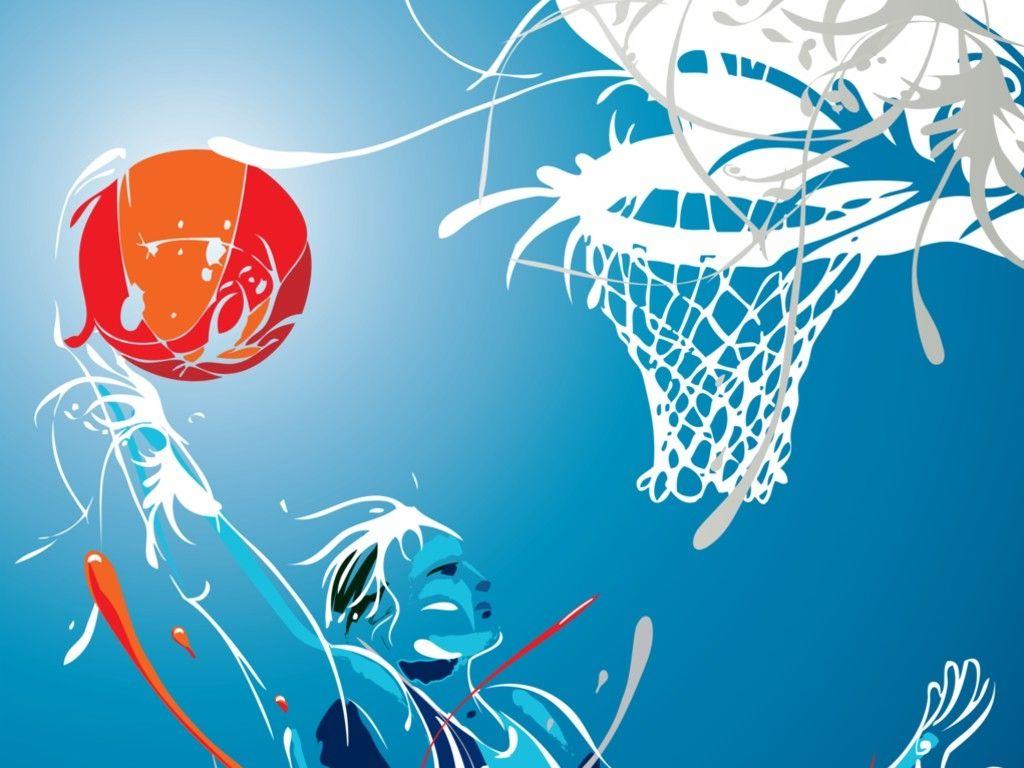 Basket-Ball • Art Wallpaper •   Basketball   Basketball, Basket, Sports