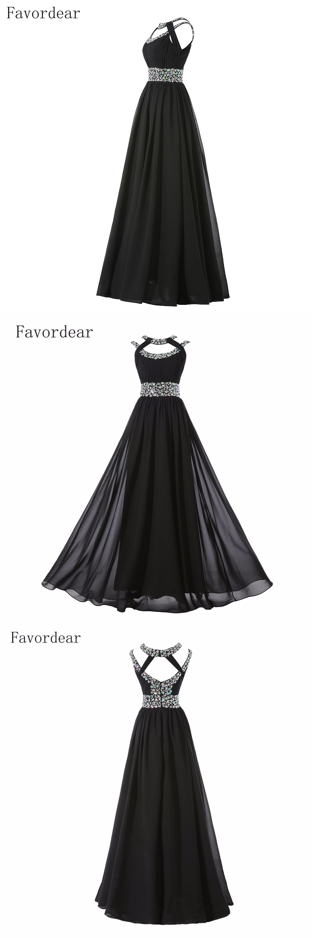 Favordear rhinestone beading royal blue evening dress long
