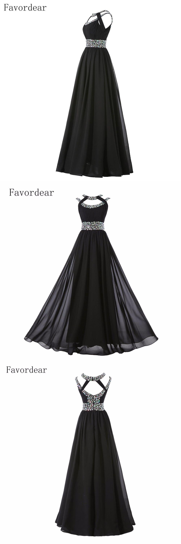 Favordear rhinestone beading royal blue evening dress long