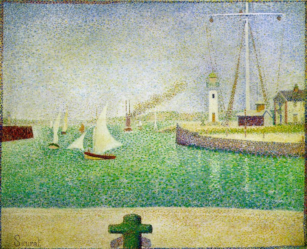Georges Seurat - Port of Honfleur, 1886, oil on canvas | painting ...