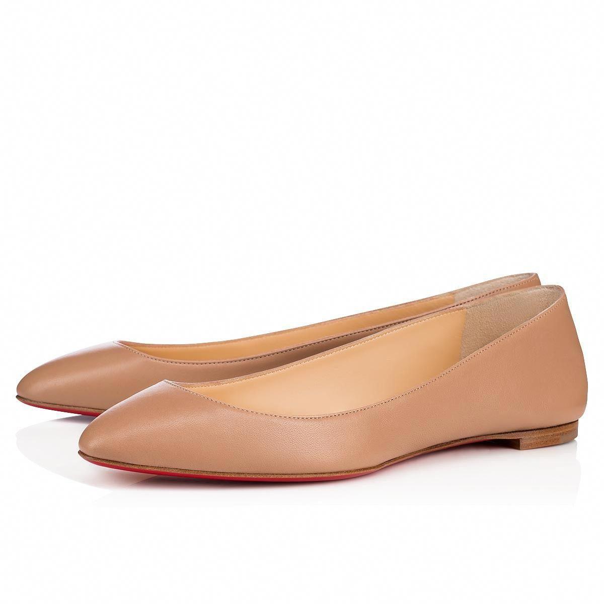 8fdd2f5c3542 Eloise Flat Nude Leather - Women Shoes - Christian Louboutin   ChristianLouboutin