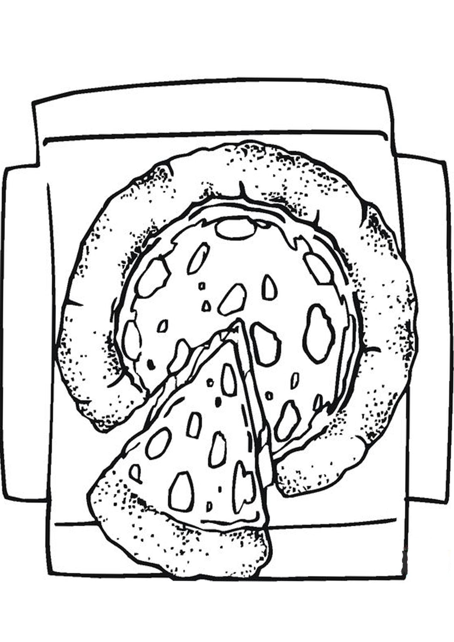 Free Easy To Print Pizza Coloring Pages In 2020 Pizza Coloring Page Coloring Pages For Kids Coloring Pages