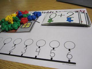 KindergartenWorks: teddy bear addition $
