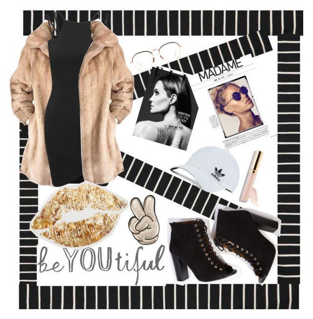 """BeYoutiful~"" by beautypro25 ❤ liked on Polyvore featuring Lilli Ann, AX Paris, Linda Farrow, adidas Originals, Beautycounter, Anya Hindmarch, beYOUtiful and pasion"