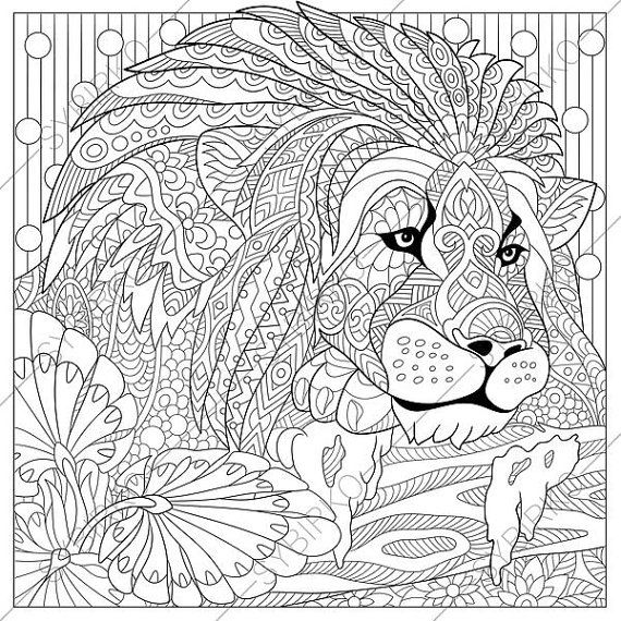 Lion Leo 2 Coloring Pages Animal Coloring Book Pages For Etsy In 2021 Lion Coloring Pages Animal Coloring Pages Animal Coloring Books