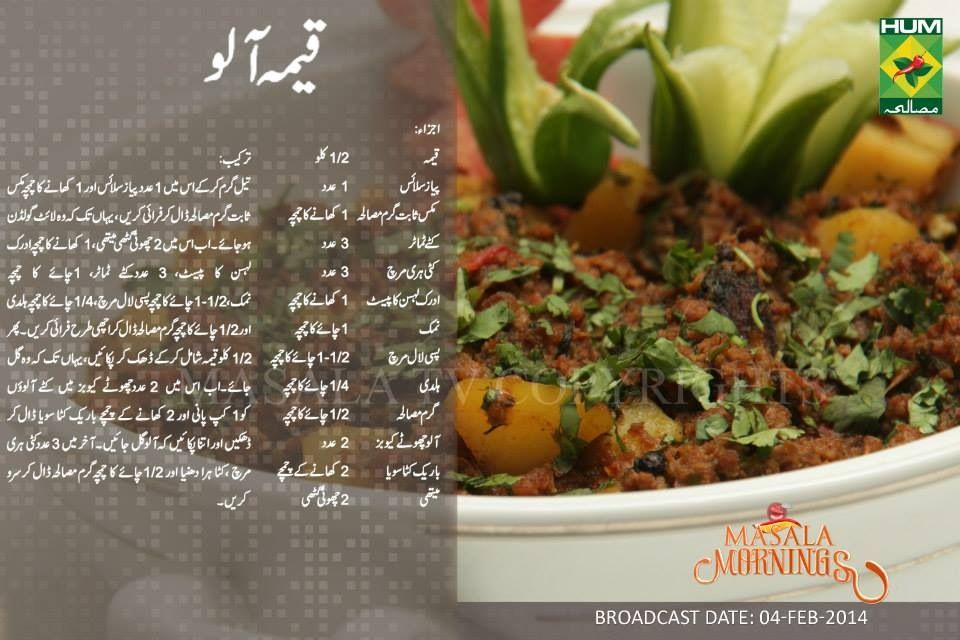 Pakistani Food Recipes In Urdu