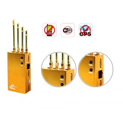 Cell phone jammer china | Jammer Wholesale China - 5 Antenna Portable GPS Cell Phone WiFi Signal Jammer