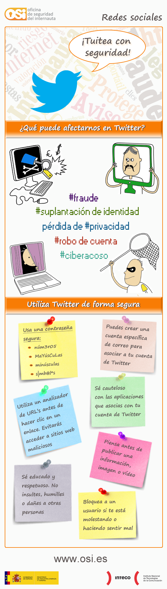 Tuitea con seguridad oficina de seguridad del internauta social media pinterest - Oficina de seguridad del internauta ...