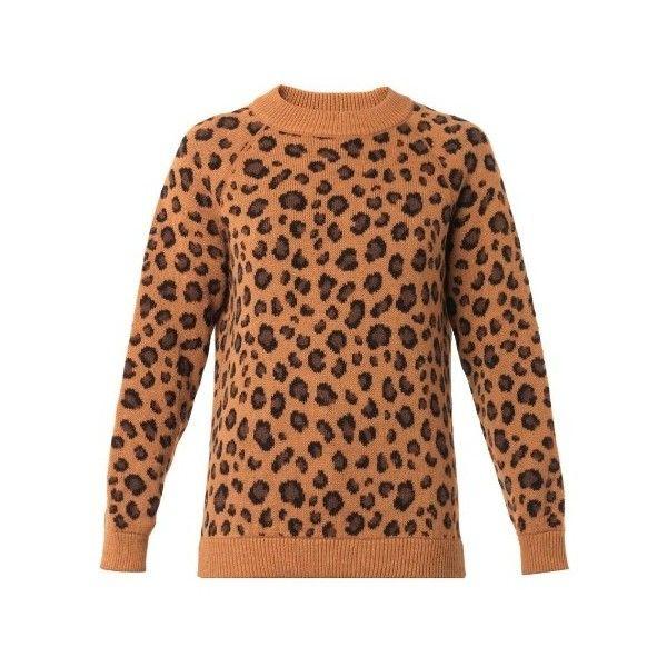 f0b9cbe05e8 Tak. Ori Cortina leopard knit sweater ( 360) ❤ liked on Polyvore featuring  tops
